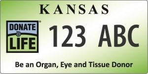 Kansas Donate Life License Plate