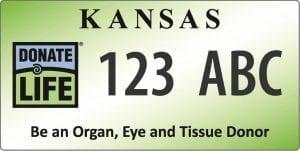 Kansas Donate Life License Plate
