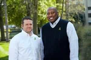Image of Alonzo Jamison and his living kidney donor, Shekinah Bailey