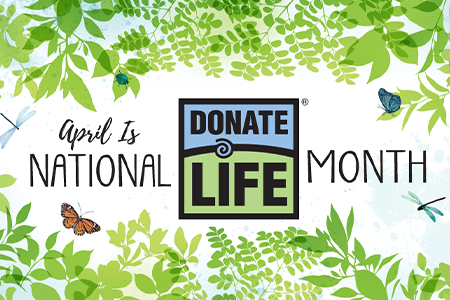National Donate Life Month graphic
