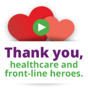 Thank you, healthcare and front-line heroes