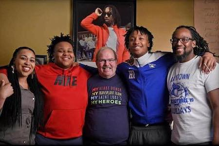 Gary Dixon with Chris Hutson Jr.'s family