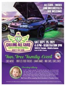 Pressley Zeplin Car Show promotional flier