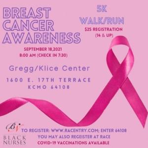 Breast Cancer Awareness 5K promotional flier